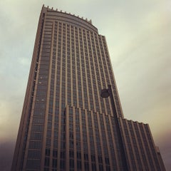 Photo taken at First National Tower by Vic P. on 3/26/2012