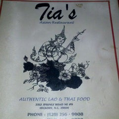 Photo taken at Tia's Asian Restaurant by Erin Q. on 3/5/2012