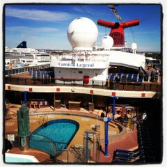 Photo taken at Carnival Legend by Curtis F. on 2/19/2012