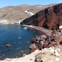 Photo taken at Κόκκινη Παραλία (Red Beach) by Agilteam on 7/14/2012