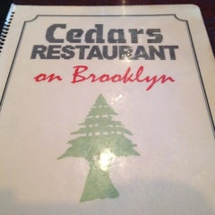 Photo taken at Cedars Restaurant by Charlie L. on 3/26/2012