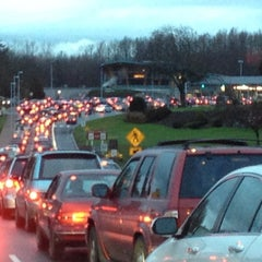 Photo taken at Peace Arch Border Crossing by Manny V. on 4/1/2012