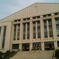 Photo taken at 연세대학교 대강당 (Yonsei University Main Auditorium) by Kevin Y. on 5/19/2012