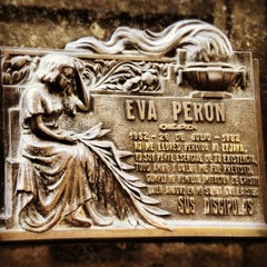 Photo taken at Eva Peron's Grave by ArtJonak on 5/2/2012