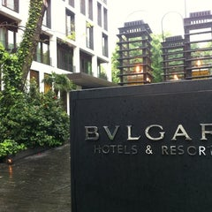 Photo taken at Bulgari Hotels & Resorts Milano by Andre S. on 4/18/2012