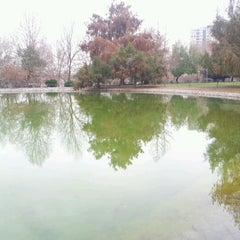 Photo taken at Laguna Parque de Los Reyes by Sebastián Ignacio O. on 8/11/2012