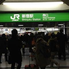 Photo taken at 新宿駅 (Shinjuku Sta.) by 方向音痴 on 3/5/2012