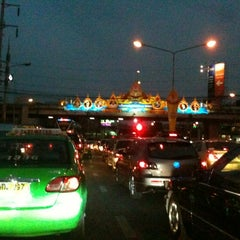 Photo taken at แยกแคราย (Khae Rai Intersection) by $h@dows W. on 4/12/2012