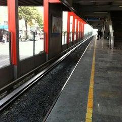 Photo taken at Metro Viaducto (Línea 2) by Enrique G. on 6/23/2012