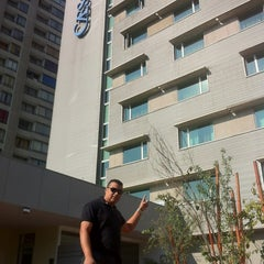 Photo taken at Hotel Mercure Santiago Centro by Adriano F. on 7/6/2012