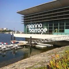 Photo taken at Marina Barrage by jinwayne on 8/15/2012