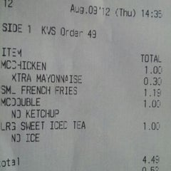 Photo taken at McDonald's by Nasheen S. on 8/9/2012