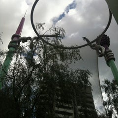Photo taken at Parc del Centre del Poblenou by Joan F. on 4/30/2012