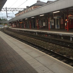 Photo taken at Stockport Railway Station (SPT) by Dava G. on 8/16/2012