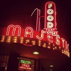 Photo taken at Majestic Diner by matt g. on 4/14/2012