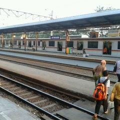 Photo taken at Stasiun Jatinegara by M Hanif A. on 7/16/2012