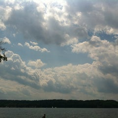 Photo taken at Lakeside Park-The Getaway by Lisa on 7/4/2012
