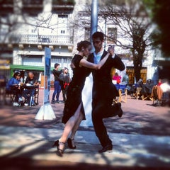 Photo taken at Plaza Dorrego by Nicolas C. on 8/31/2012