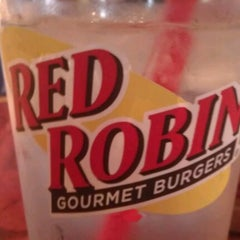 Photo taken at Red Robin Gourmet Burgers by Kelsey B. on 4/21/2012