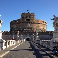 Photo taken at Ponte Sant'Angelo by Dmitry M. on 5/17/2012
