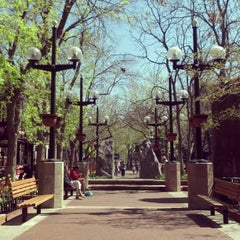 Photo taken at Pearl Street Mall by Charlie R. on 4/6/2012