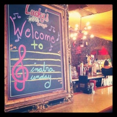 Photo taken at Lucky's Lounge by Nicole M. on 8/19/2012