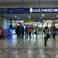 Photo taken at 영등포역 (Yeongdeungpo Stn.) by Hyunjin C. on 6/10/2012