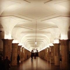Photo taken at Метро Кропоткинская (metro Kropotkinskaya) by Vladimir on 8/18/2012