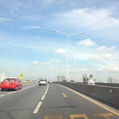Photo taken at สะพานพระราม 3 (Rama III Bridge) by 愛神 on 9/9/2012