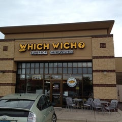 Photo taken at Which Wich? Superior Sandwiches by Mr. E. on 6/13/2012