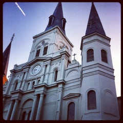 Photo taken at St. Louis Cathedral by Justin C. on 6/21/2012