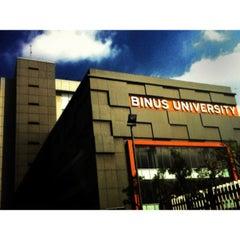 Photo taken at BINUS University by Sadam H. on 6/7/2012