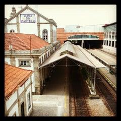 Photo taken at Estação Ferroviária de Viana do Castelo by Nuno N. on 8/12/2012