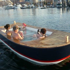 Photo taken at Hot Tub Boats by Thrillist on 7/23/2012