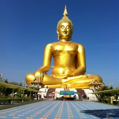 Photo taken at วัดม่วง (Wat Muang) by Cherry Blossom on 5/1/2012
