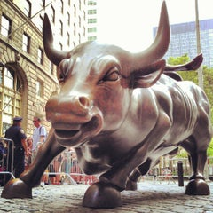 Photo taken at Charging Bull by Milton on 6/20/2012