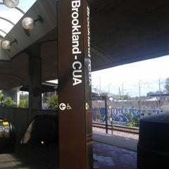 Photo taken at Brookland-CUA Metro Station by CaShawn T. on 9/8/2012