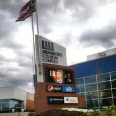 Photo taken at Greensboro Coliseum Complex by Greensboro, NC on 5/18/2012