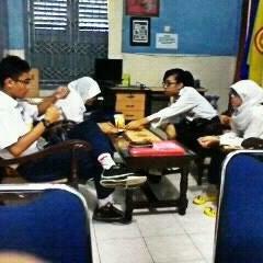 Photo taken at Ruang Koordinator SBI SMPN 5 Yk by Keenan M. on 5/14/2012