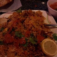 Photo taken at Taj Cafe and BBQ (and Greek!) by Wanda W. on 4/4/2012