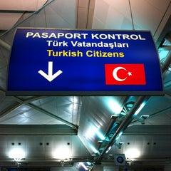 Photo taken at Dış Hatlar Geliş Terminali by Ahmet F. on 7/7/2012