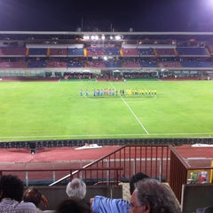 "Photo taken at Stadio Cibali ""Angelo Massimino"" by Davide G. on 8/8/2012"