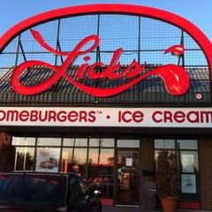 Photo taken at Lick's by Nancy B. on 4/28/2012