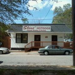 Photo taken at Skin's Hotdogs by Jody S. on 3/24/2012