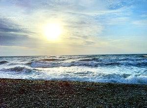 Лечебный пляж санатория Феодосийский