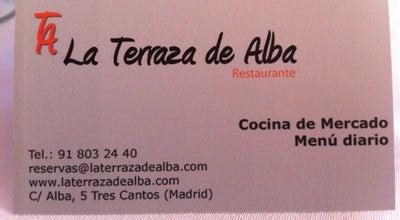 Photo of Spanish Restaurant La Terraza De Alba at C. Alba, 5, Tres Cantos 28760, Spain