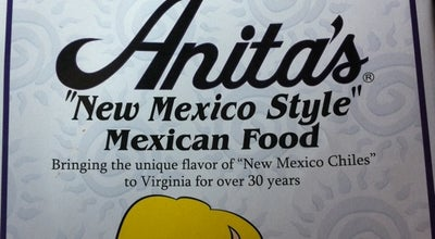 Photo of Mexican Restaurant Anita's New Mexican Style Mexican Food at 44305 Ice Rink Plz, Ashburn, VA 20147, United States