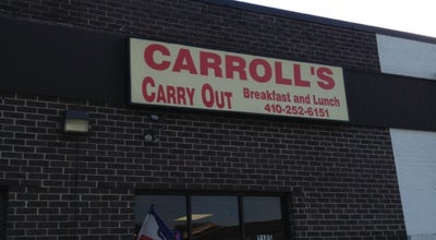 Photo of Breakfast Spot Carroll's Carry Out at 2185 Greenspring Dr, Lutherville Timonium, MD 21093, United States