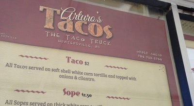 Photo of Taco Place Arturo's Tacos at Huntersville, NC, United States