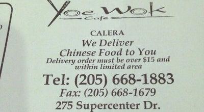 Photo of Chinese Restaurant Yoe Wok cafe at 275 Supercenter Dr, Calera, AL 35040, United States